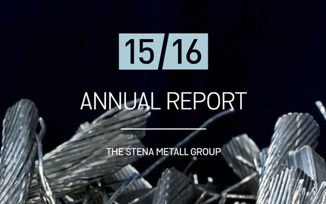 Annual report 2015-2016, Stena Metall Group