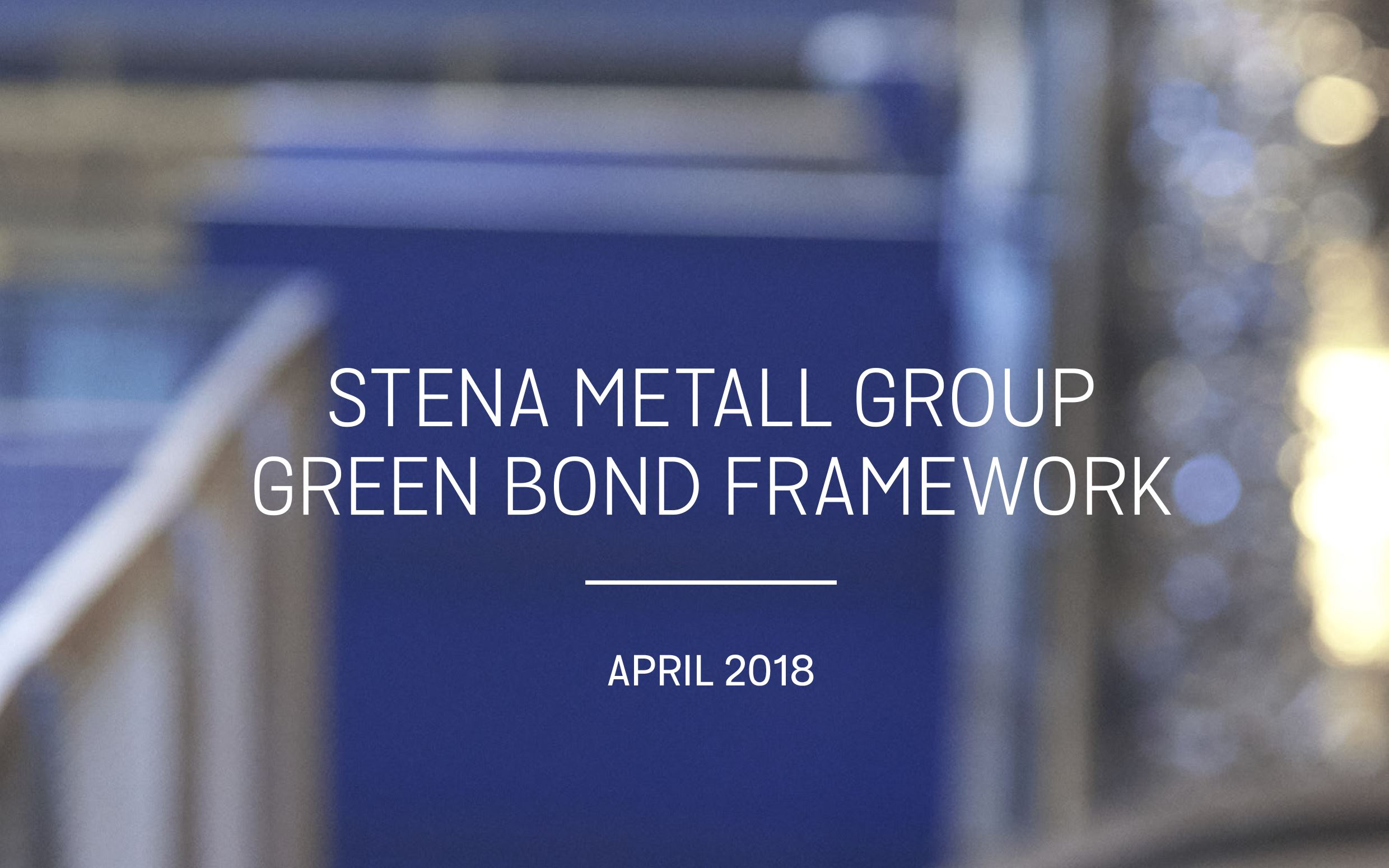 Green Bond Framework April 2018